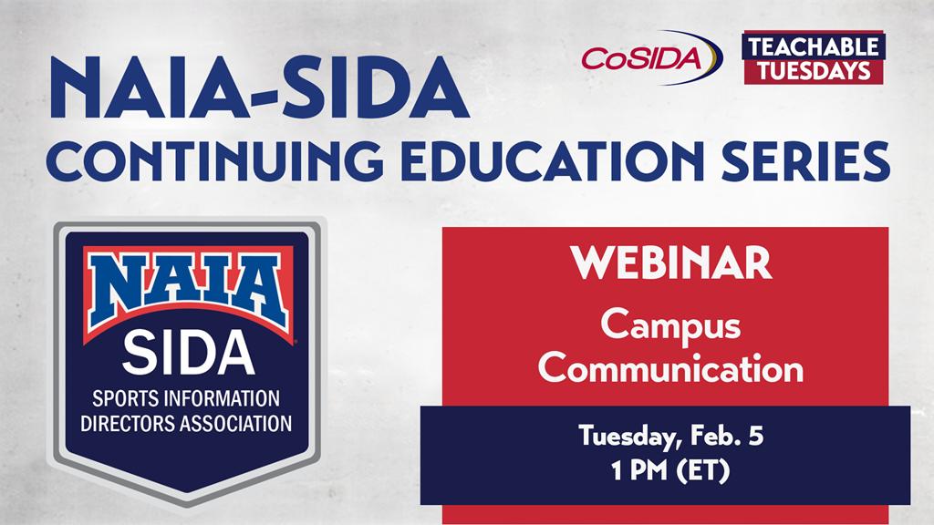 Join Us! NAIA-SIDA Continuing Education Webinar: Campus