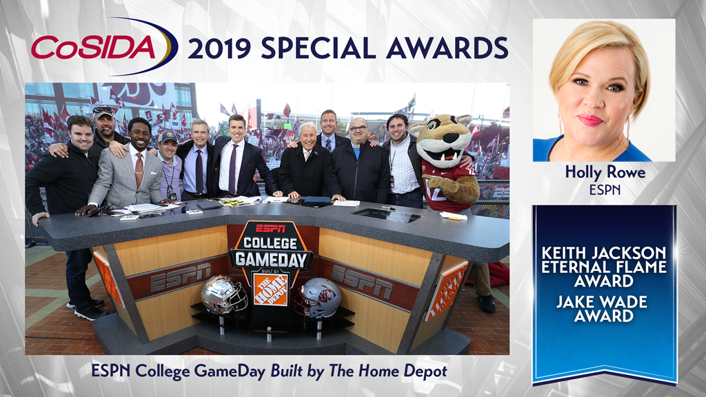 440571e20c CoSIDA To Honor ESPN College GameDay Built By The Home Depot With CoSIDA's  2019 Keith Jackson