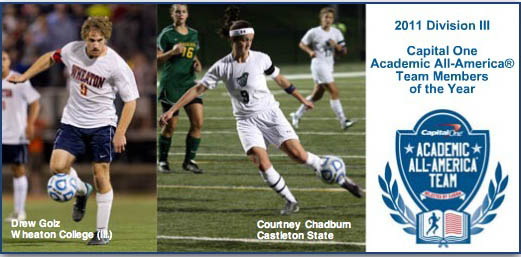 Drew Golz and Courtney Chadburn- 2011 D3 Soccer AAAs of the Year