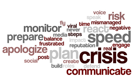 Crisis communications verbiage graphic