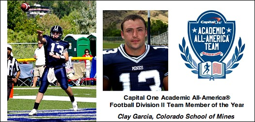 Clay Garcia- Colorado Sch of Mines-DII AAA of Year