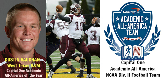 Dustin Vaughn (West Texas A&M)- 2012 D2 FB AAA of Yr banner