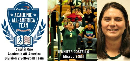 Jennifer Costello - Missouri S&T- D2VB AAA of Yr banner
