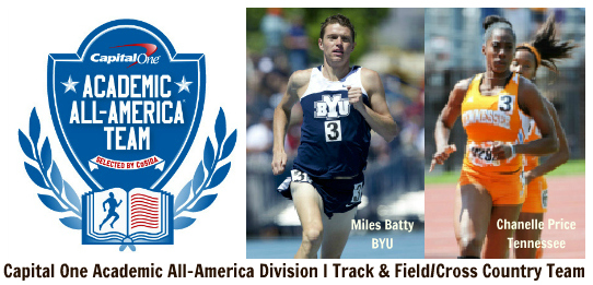 Miles Batty (BYU), Chanelle Price (Tenn) COAAA T&F DI