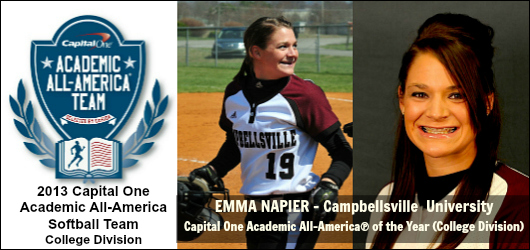 Emma Napier_Campbellsville - 20193 CD Softball CO Academic All-America