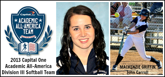 Mackenzie Griffin- John Carroll - 2013 D3 Softball AAA of Year