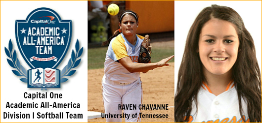 Raven Chavanne - Tenn - 2013 Cap One Div I Softball AAA of Year