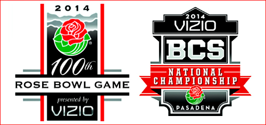 Rose Bowl 100th game logo, 2014 champ logo