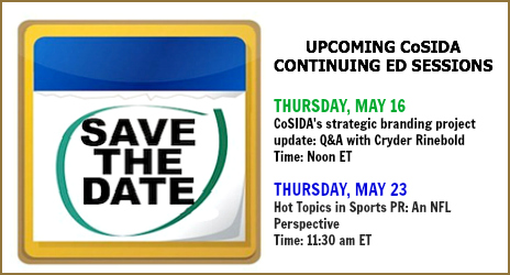 Save the Date- May 2013 Continuing Ed