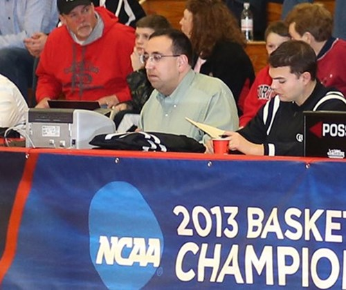 Working at the 2013 NCAA Basketball Championships.
