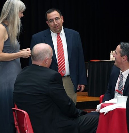 Elia at a recent SUNY Cortland athletics event.